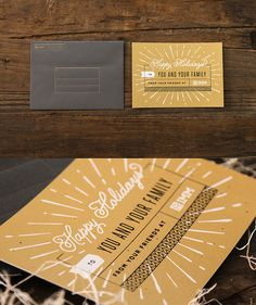 2013 IMM Holiday Card #boulder #card #colorado #wood #printing #screen #holiday #gold #metallic