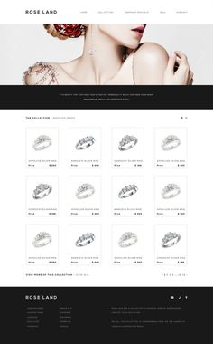 Rose Land Jewelry Interface #design #interface #website #layout #web