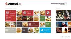 Zomato Windows 8 App on Behance #windows8