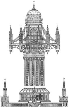 Tower Series by Toby Melville Brown #architecture #drawing