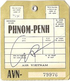Air Vietnam - Phnom-Penh, Cambodia | Flickr - Photo Sharing! #baggage #tag #luggage