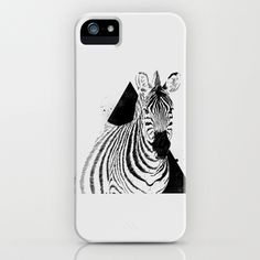 Zebra iPhone & iPod Case #fashion #illustration #triangle #zebra