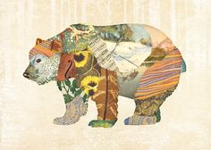 Gerren Lamson · Multi-discipline Designer · lllustrator · Austin, TX #print #illustration #collage #bear #photographic #gerren lamson