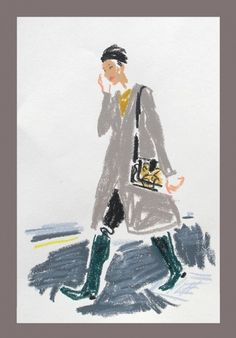 London Fashion Week | Snap Sketch - NYTimes.com #week #london #florbert #cuyuper #quick #fashion #damien #sketch