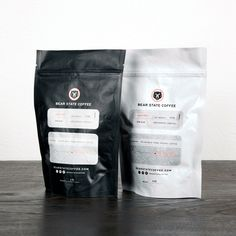 Bear State Coffee #bag #white #red #packaging #black #state #coffee #bear #california