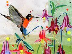 coqueterías - (via loveyourchaos) #artwork #scheme #color #bird