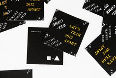 LaPlanche Design | Holiday Cards #tearable #year #print #screen #holiday #cards #new