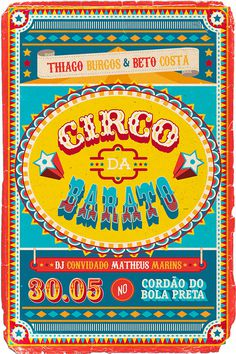 O Circo da Barato on Behance #illustration #lettering #poster #typography