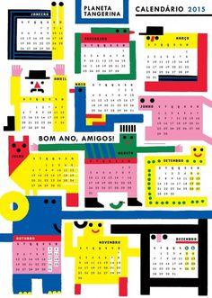 Calendário 2015 | Planeta Tangerina #calendar