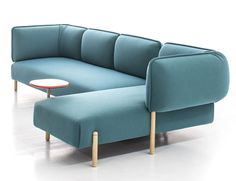 Flexible Modern Modular Sofa by Patricia Urquiola bright color rounded shape sofa #furniture #sofa