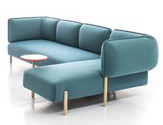 Flexible Modern Modular Sofa by Patricia Urquiola bright color rounded shape sofa