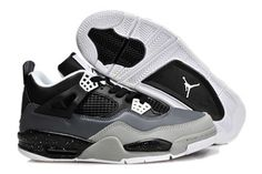 """Fear Oreo Stealth"" Nike Air Jordan IV 4 Retro - Black and White Online #fashion"