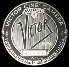 Yintage 1935 VICTOR 16mm Movie Camea #logo
