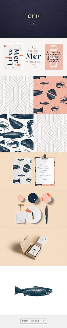 CRU Oyster Bar Restaurant Branding and Menu Design by Sid Lee