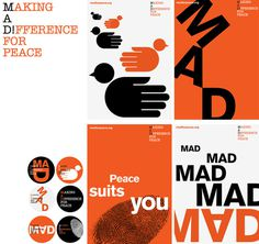 MAD for peace | Bibliothèque Design #poster #branding