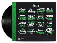 Jr Mint cover on Typography Served #album #lettering #design #illustration #art #type #123klan #green