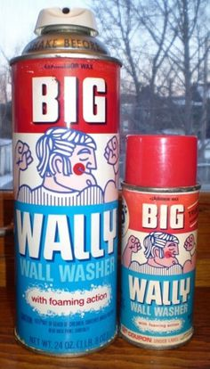 All sizes | Vintage Big Wally Wall Washer Cans | Flickr - Photo Sharing! #packaging #retro #logo #illustration #vintage #type