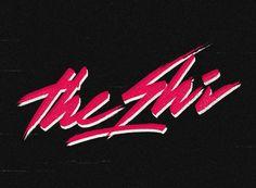 Overglow retrofuturistic logos #typography #retro #vintage #80s #neon
