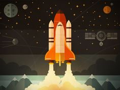 Fireart blog illustration by FireArt Studio #flat #illustration #space #art
