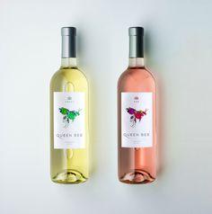 Queen Bee #poff #branding #packaging #bee #kyle #floral #wine #queen