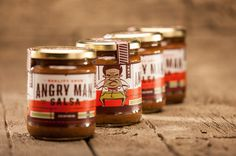 Angry Man Salsa Packaging by Foundry Co