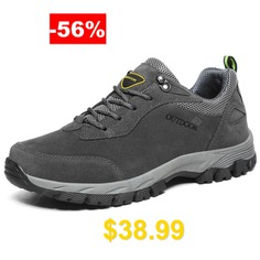Men's #Climbing #Shoes #Large #Size #Comfortable #Wearable #for #Hiking #Outdoors #- #GRAY