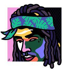 Fetty Wap by @mkrnld #portrait #fettywap #music #pattern #mkrnld