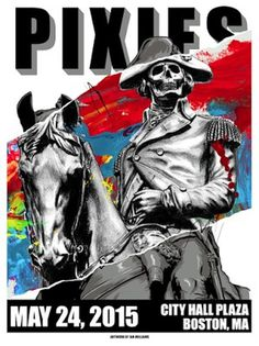 Pixies Gigposter #pixies #gigposter #poser #screen #print #horse #skull #washington #boston