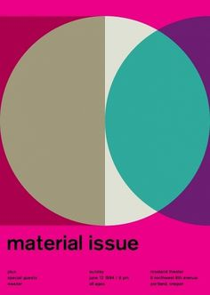 material issue at roseland theater, 1994 - swissted #design