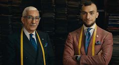 Here's how Italy's master tailors achieve greatness. Watch and learn. #Bespoke #CarloAndreacchio #MassimilianoAndreacchioCaraceni #Sartoria