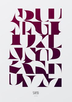 Aaron Jancso Typographic Posters II #typography #poster #font #aaron jancso