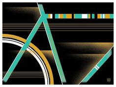 Image of Bike Lines #bicycle #bike #poster