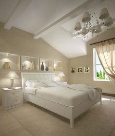 Artistic white bedroom #artistic #bedroom #decor #bedrooms #art #artiistic