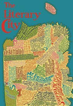 dd_litcity_map.jpg 825×1,200 pixels #illustration #retro #typography