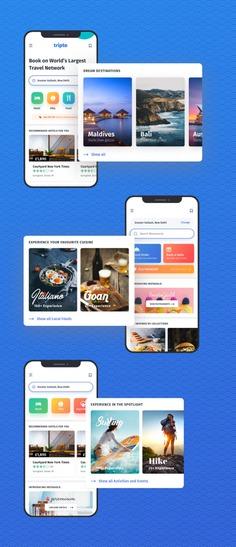 Tripto – Hotel and Food Mobile App UI-kit