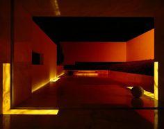 Residence living area with dark lighting #interior #architecture #residence #futuristic