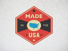 FFFFOUND! | Dribbble - MADE IN THE USA by Riley Cran #logo #icon #badge
