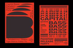 Capital Bass: Pahatam Release Party, Dima Shirvaev #graphic #poster #typography
