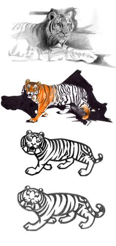 Pictograms ZOO on Behance #tiger #process