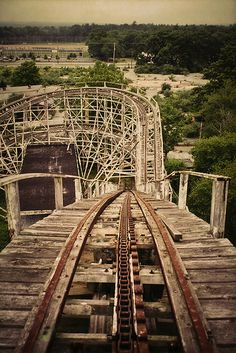 The Comet | Flickr Photo Sharing! #rollercoaster #fairground #wooden #ride #abandoned #photography #dipper