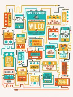2010 Solid Sound Festival | Wilco on the Behance Network #music #wilco #posters #pedals