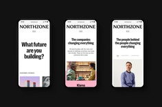 Brand identity, business cards, newsprint and website for early stage venture capital fund Northzone designed by Ragged Edge