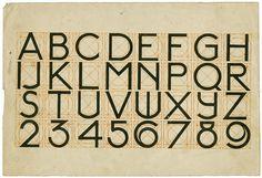 J.L.M. Lauweriks. Alphabet