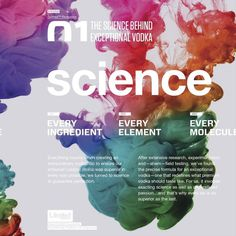 The science behind exceptional vodka #inspiration #desig #graphic #science #typography