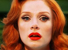 Photographs of the Immediate Future - but does it float #eyelashes #red #woman #head #bryce #tears #vintage #dallas #howard #lipstick #beauty
