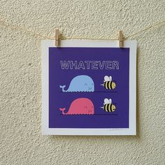 #whale #bee #poster
