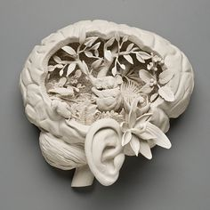 Kate MacDowell Bird Brain Sculpture #sculpture #art