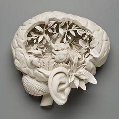 Kate MacDowell Bird Brain Sculpture