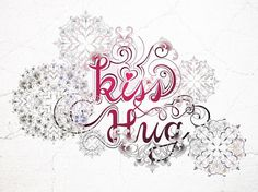 Hee K. Chun #hug #swash #typography #ornament #kiss