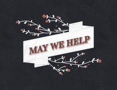May We Help Logo #logo #design #graphic #flowers